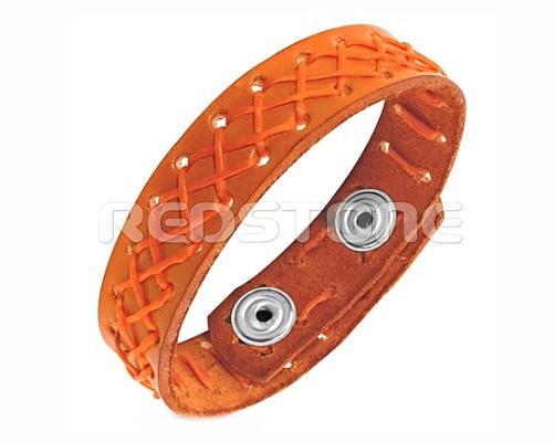 b58358554 Náramok z pravej kože v oranžovom prevedení