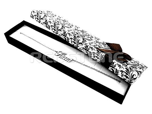 Papierová krabička s ornamentom a mašľou 545082cd824