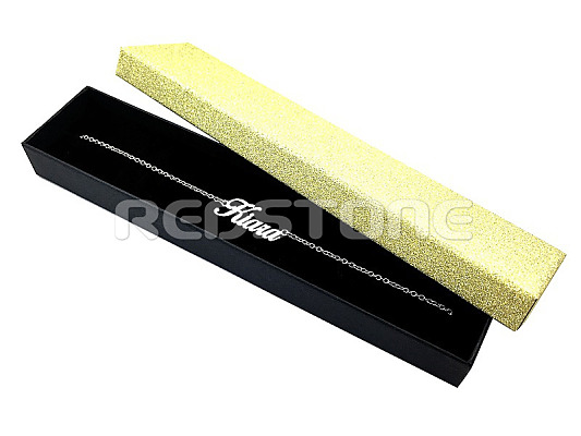 Trblietavá papierová krabička v zlato čiernom prevedení 5f0a90c8c87